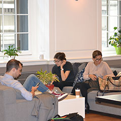 A Relaxed Coworking Place to Work for Startups